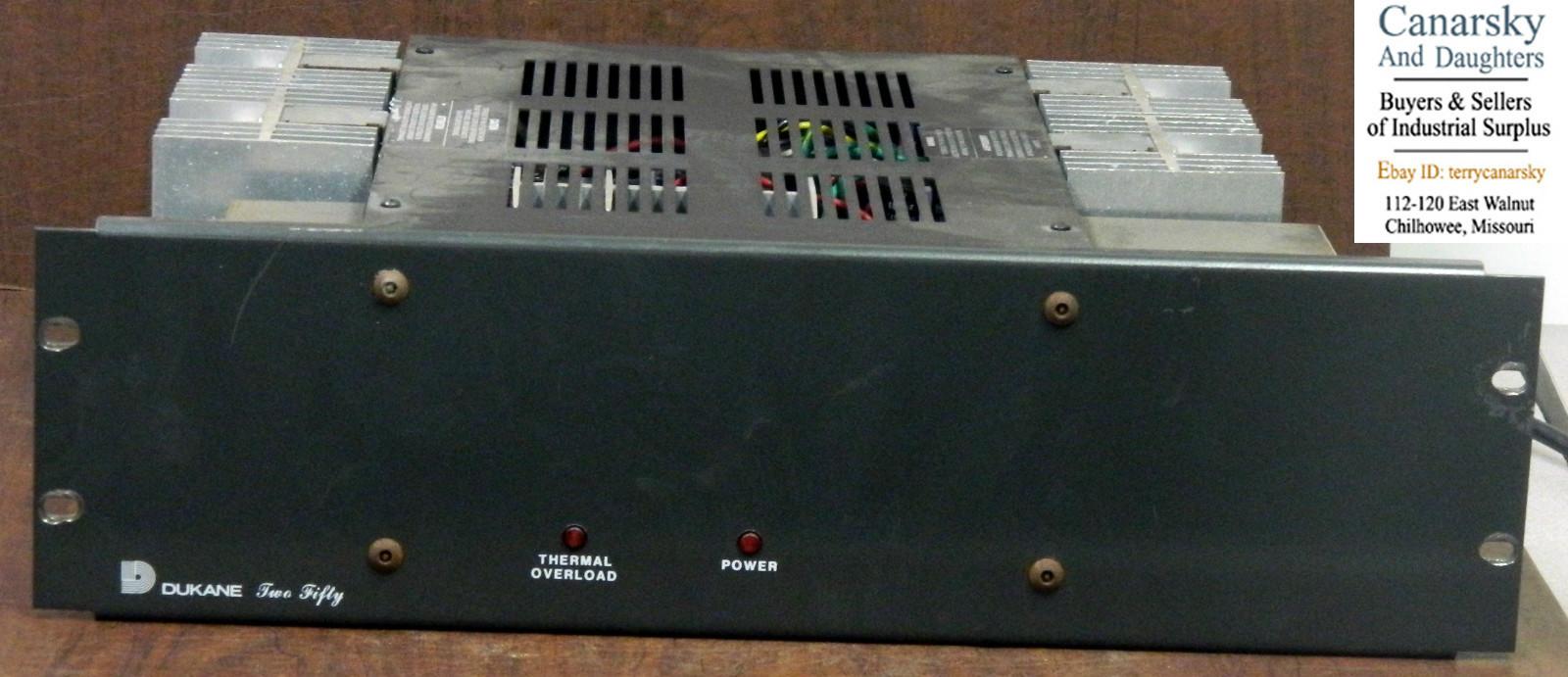 Dukane 250 Watt Amplifier